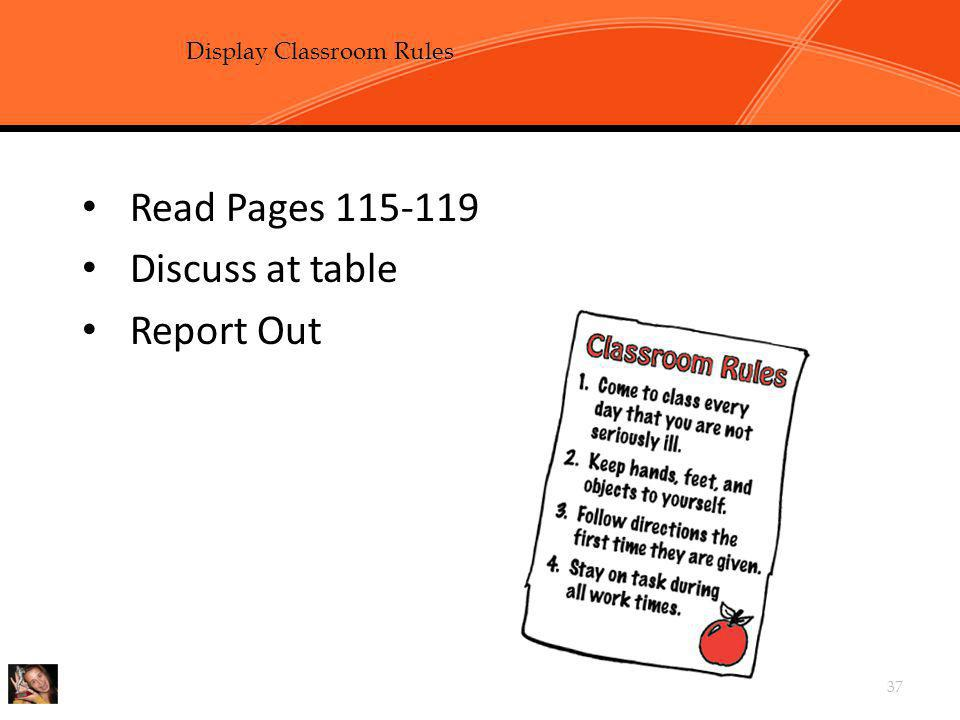 Chapter 3, Task 2: Develop and Display Classroom Rules p115-119