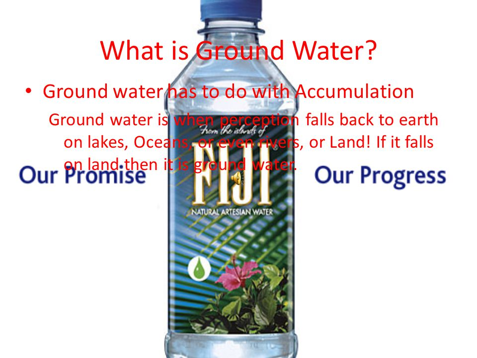What is Ground Water Ground water has to do with Accumulation