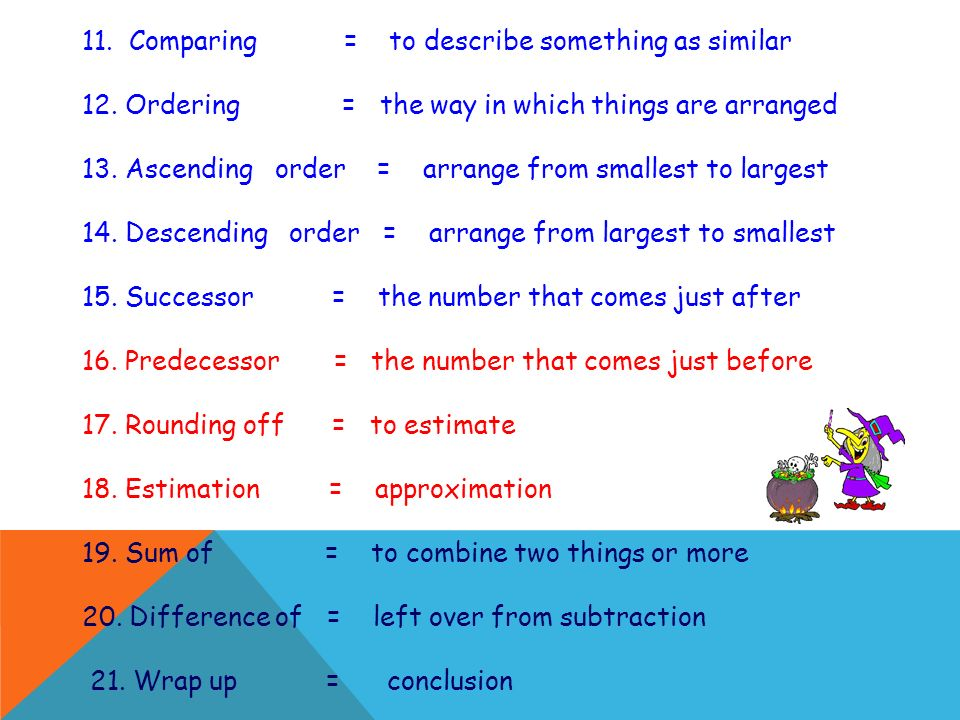 11. Comparing = to describe something as similar