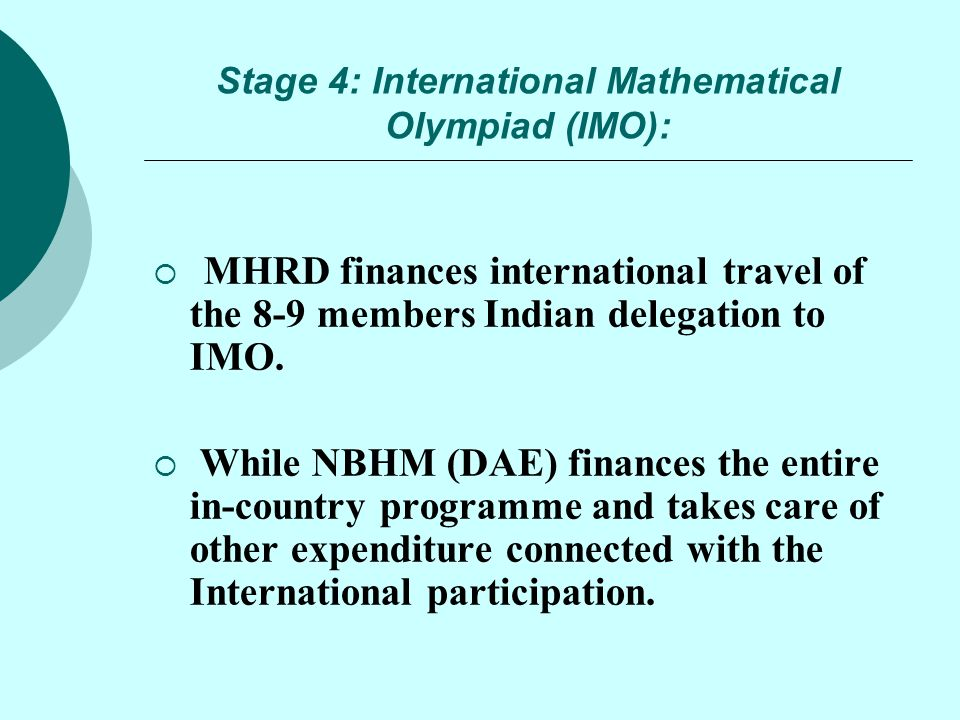 Stage 4: International Mathematical Olympiad (IMO):