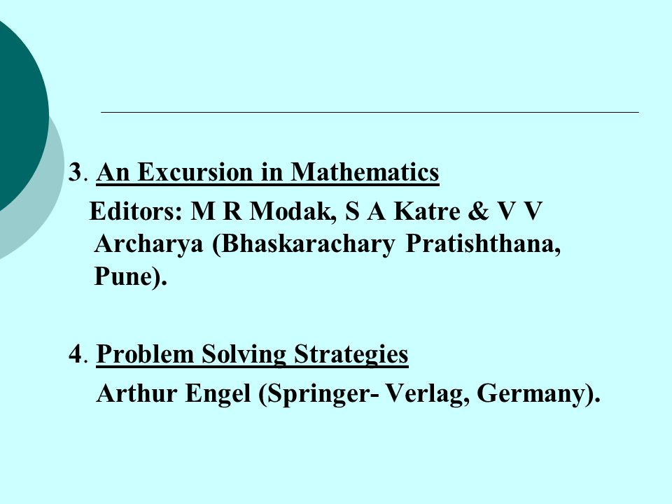 3. An Excursion in Mathematics