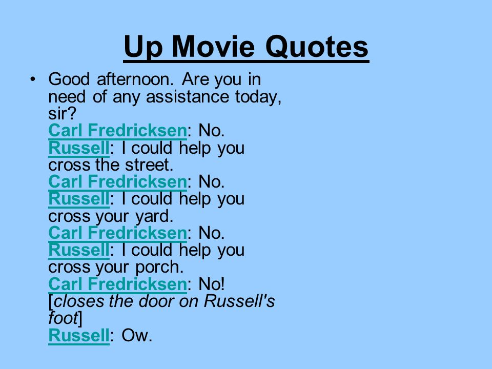 Up Movie Quotes