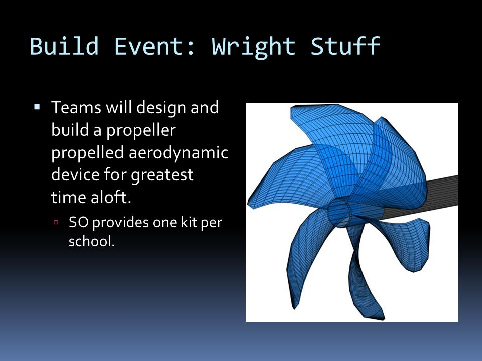 Build Event: Wright Stuff