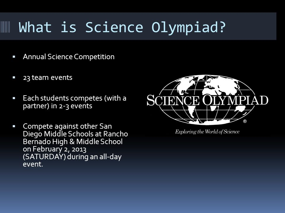 What is Science Olympiad