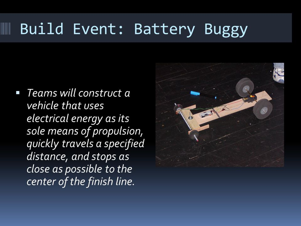 Build Event: Battery Buggy
