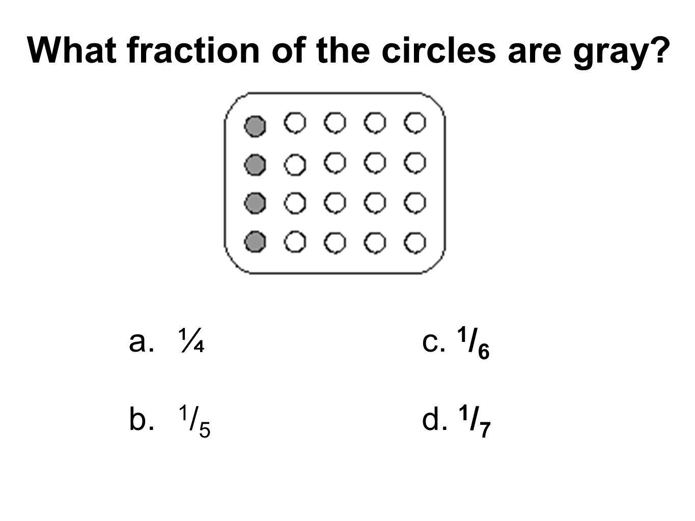 What fraction of the circles are gray