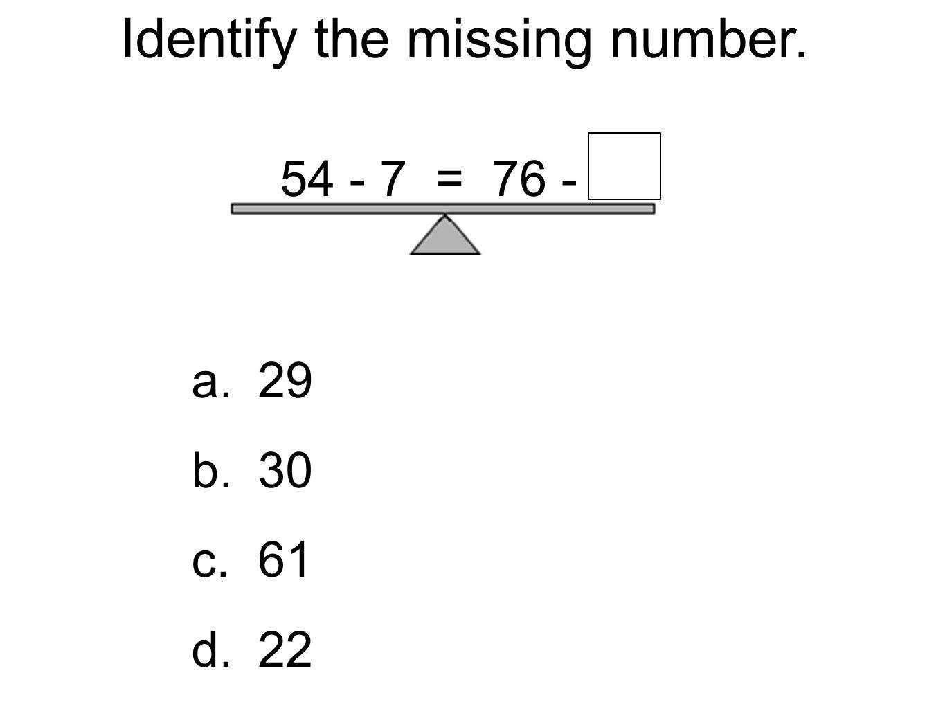 Identify the missing number.