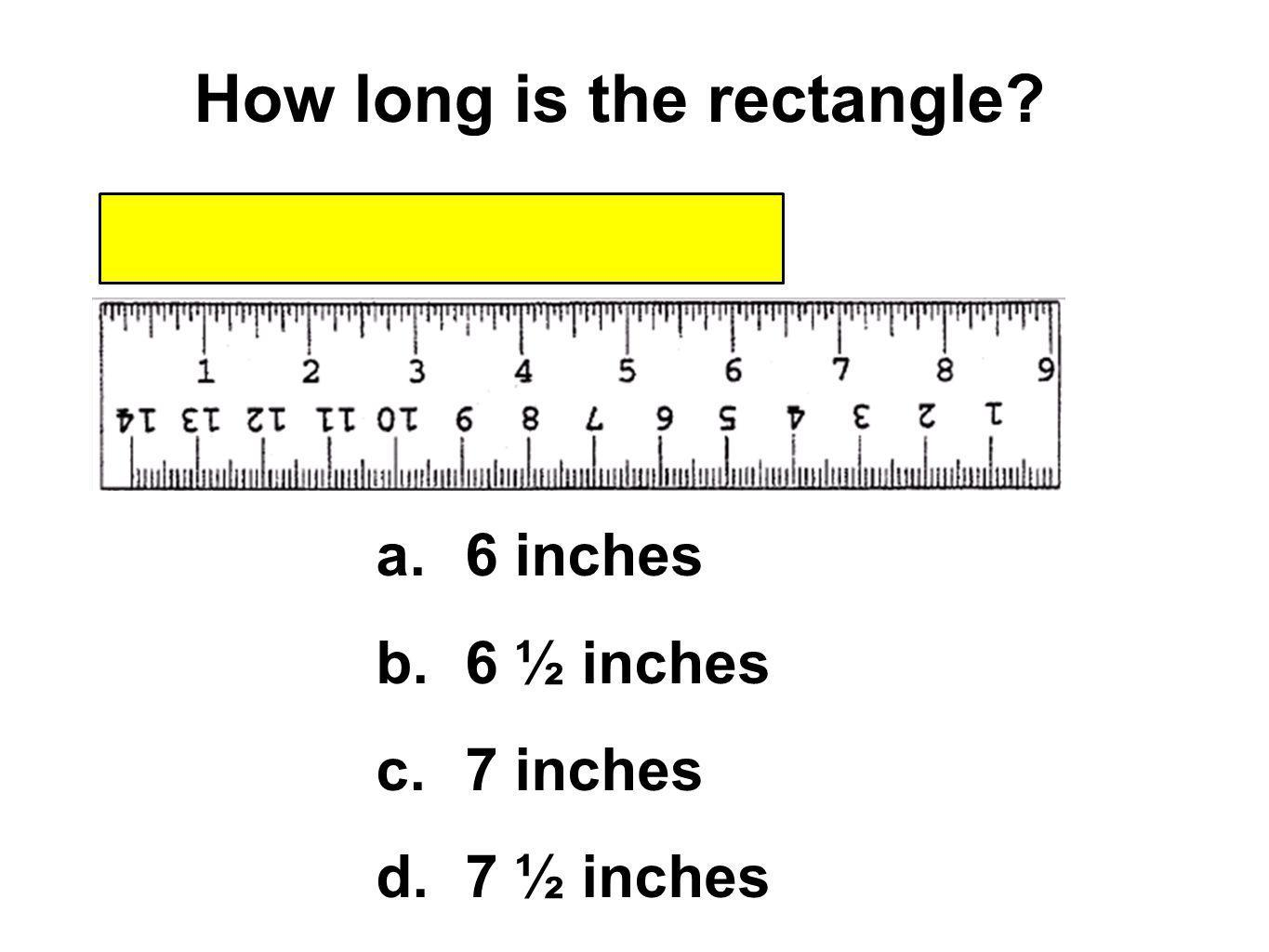 How long is the rectangle