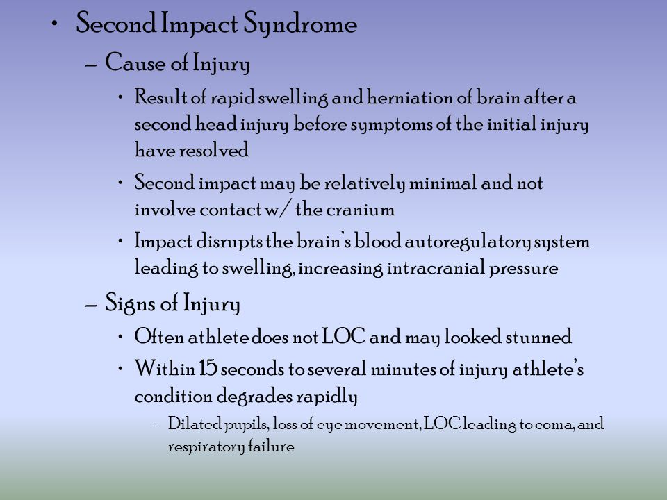 Second Impact Syndrome