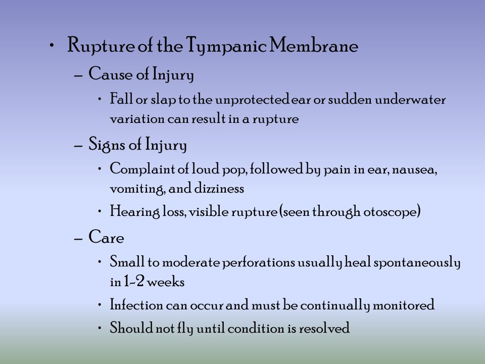 Rupture of the Tympanic Membrane