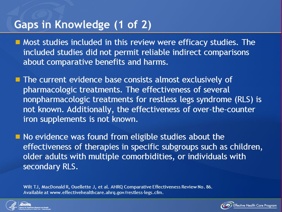 Gaps in Knowledge (1 of 2)