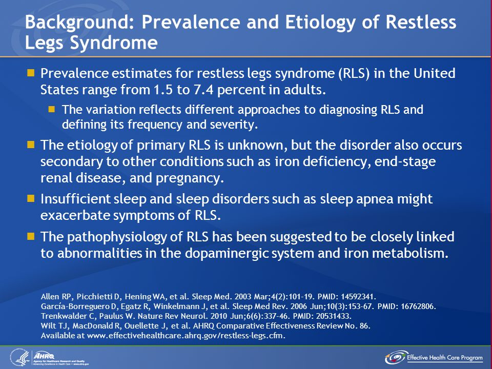 Background: Prevalence and Etiology of Restless Legs Syndrome
