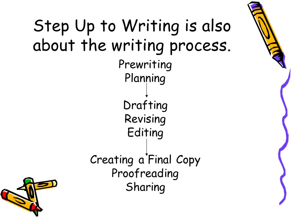 Step Up to Writing is also about the writing process.