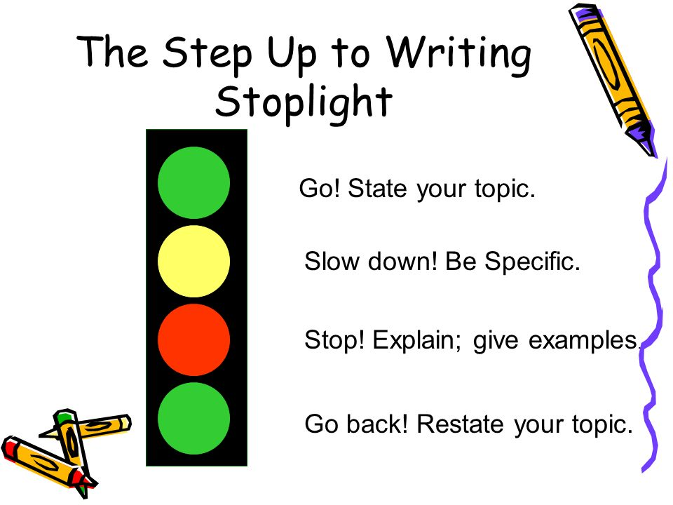 The Step Up to Writing Stoplight