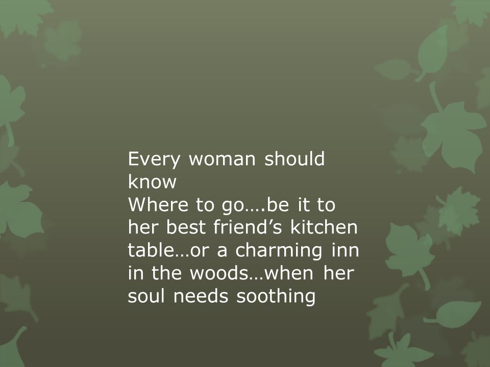 Every woman should know