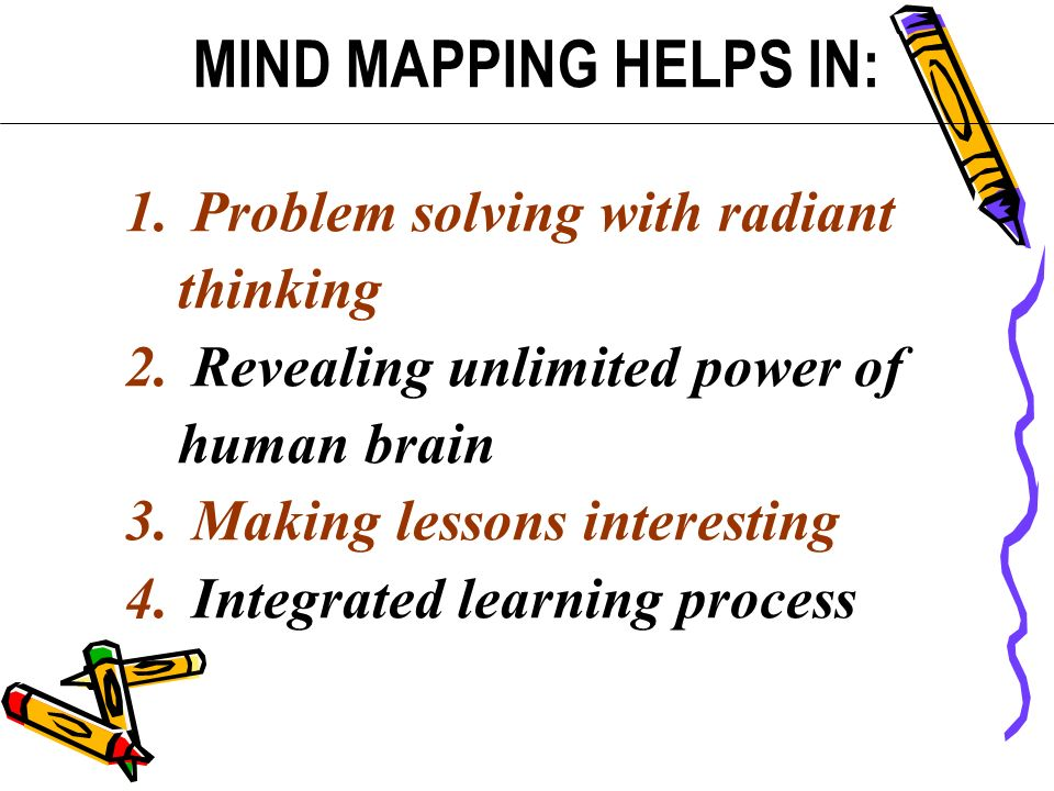 MIND MAPPING HELPS IN: Problem solving with radiant thinking