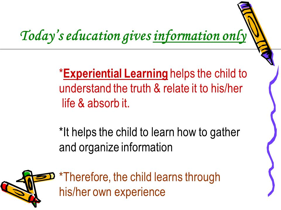 Today's education gives information only