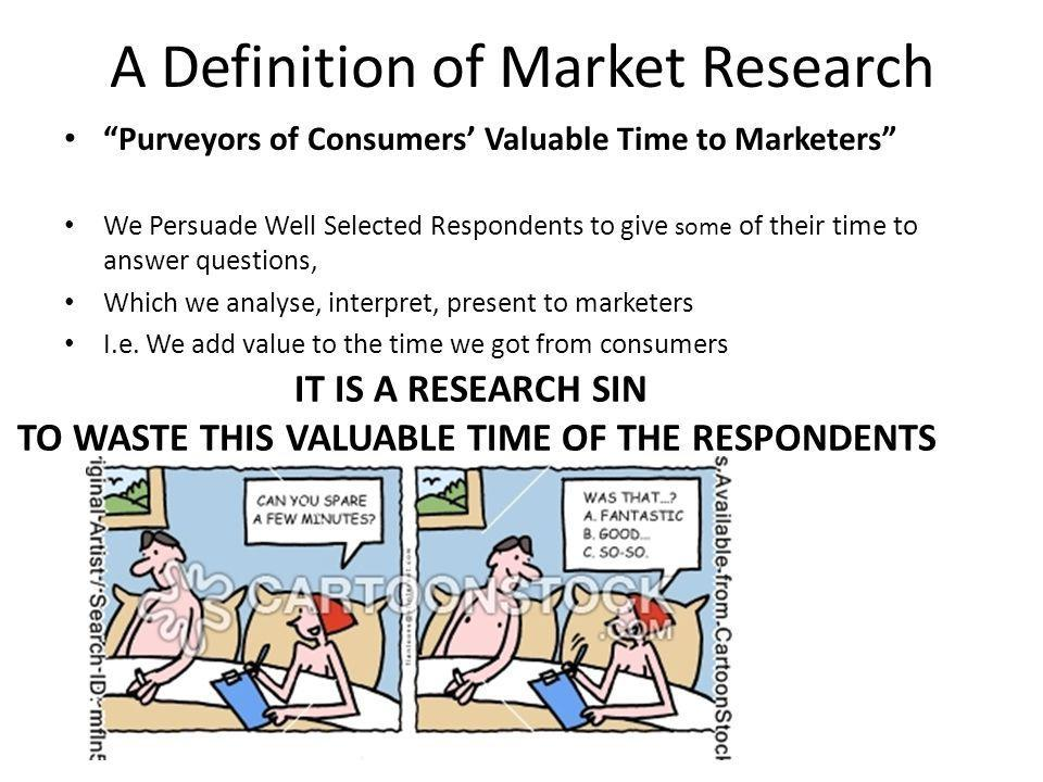 A Definition of Market Research