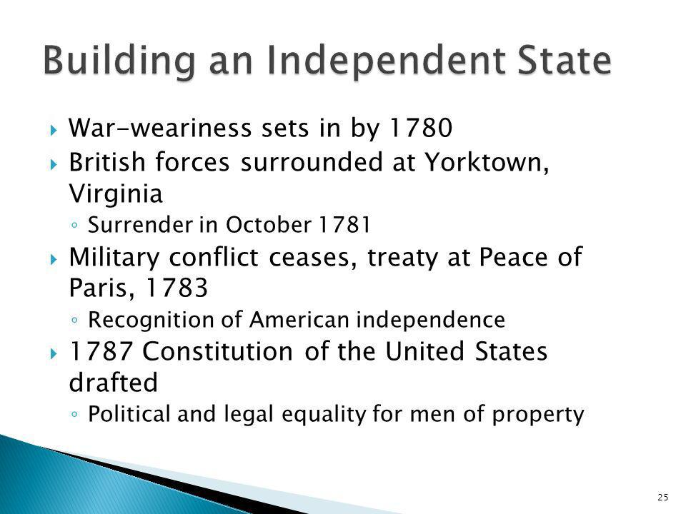 Building an Independent State