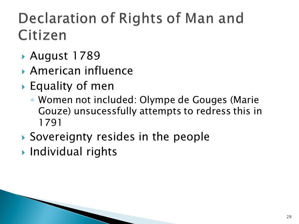 Declaration of Rights of Man and Citizen