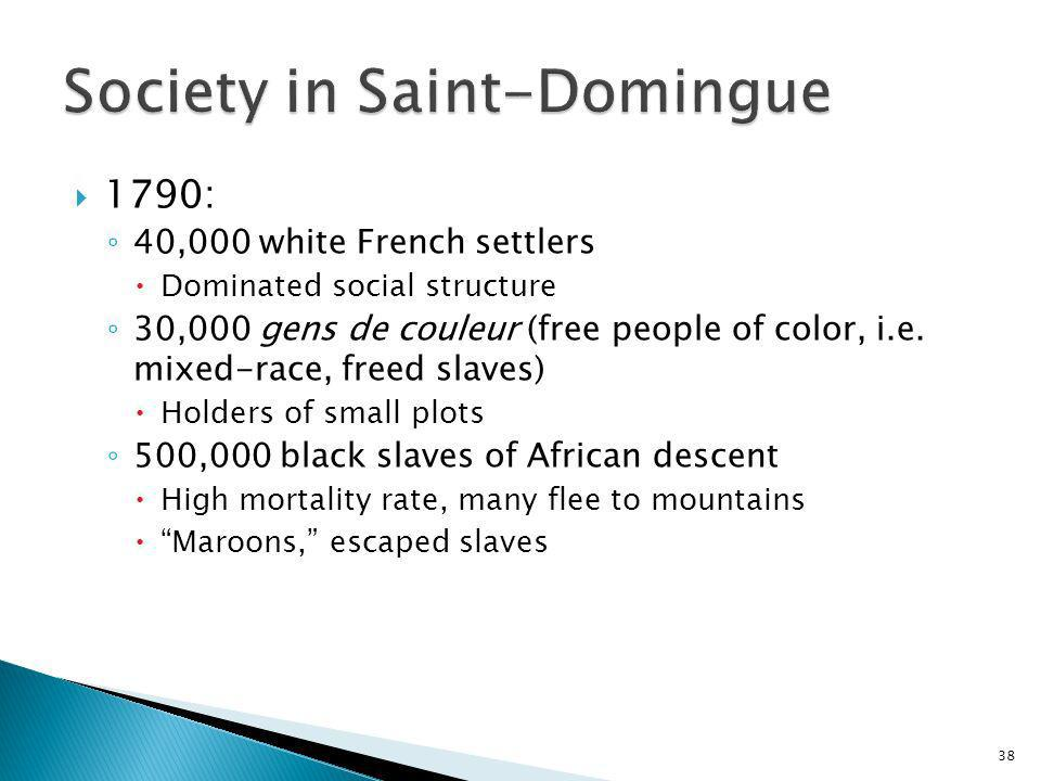 Society in Saint-Domingue