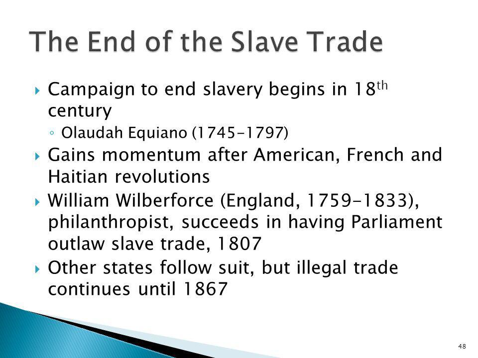 The End of the Slave Trade