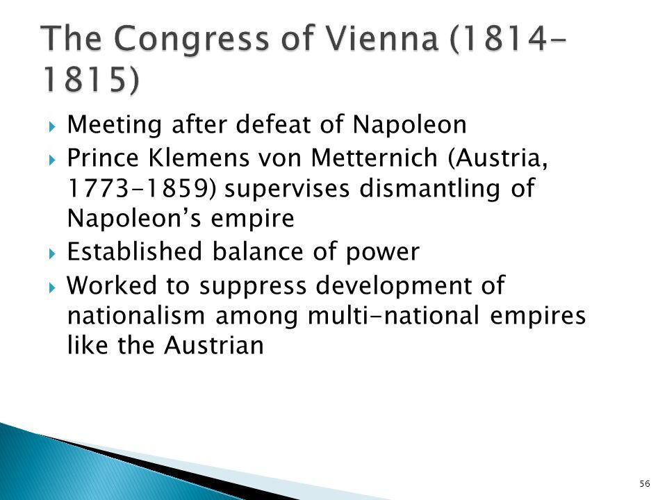 The Congress of Vienna (1814-1815)