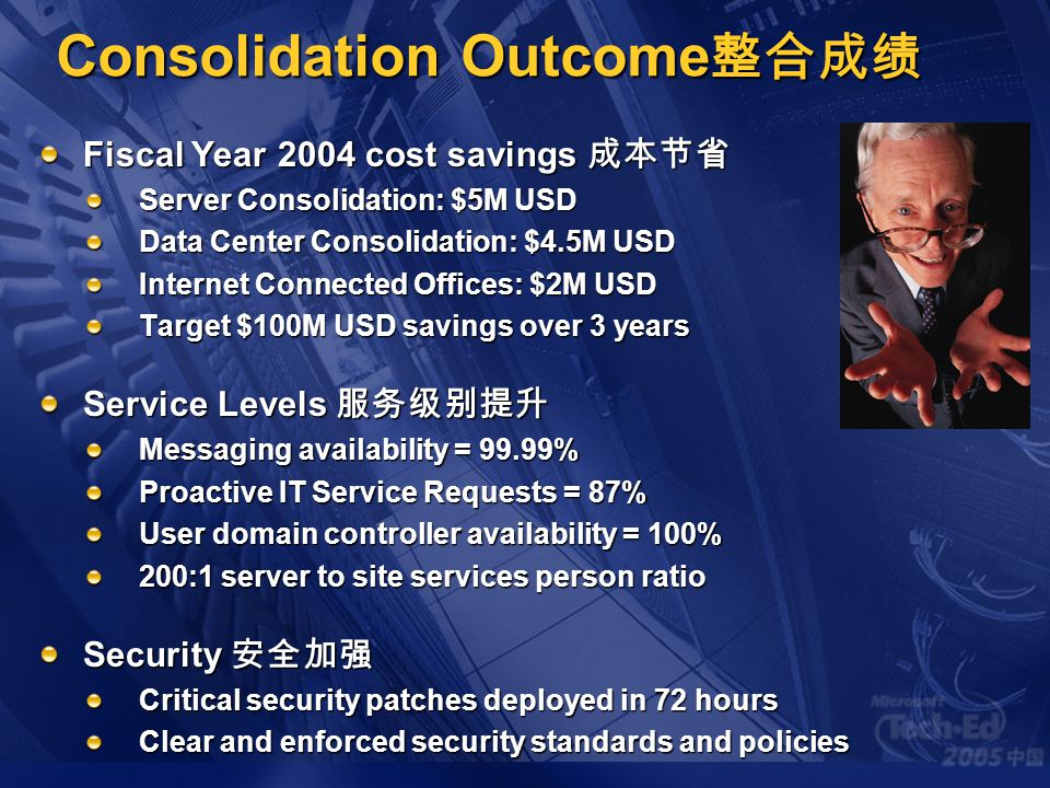 Consolidation Outcome整合成绩
