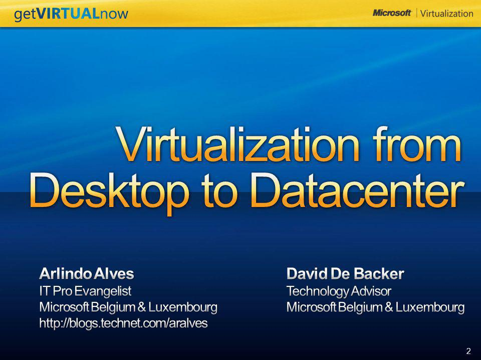 Virtualization from Desktop to Datacenter