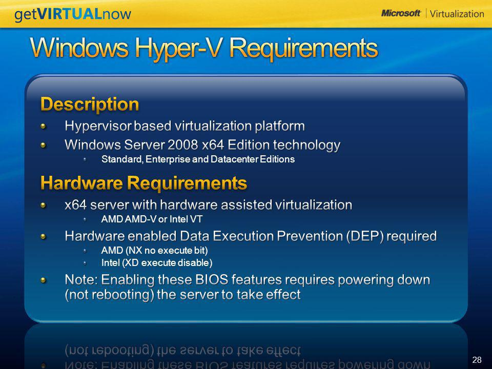Windows Hyper-V Requirements