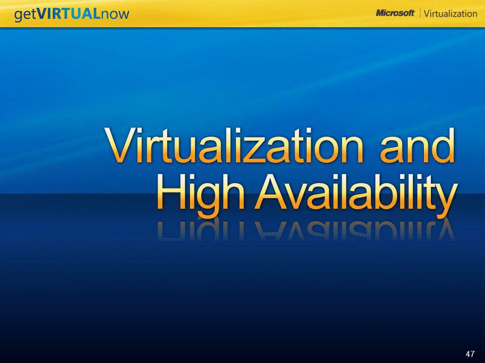 Virtualization and High Availability