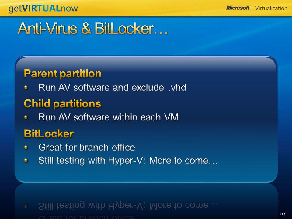 Anti-Virus & BitLocker…
