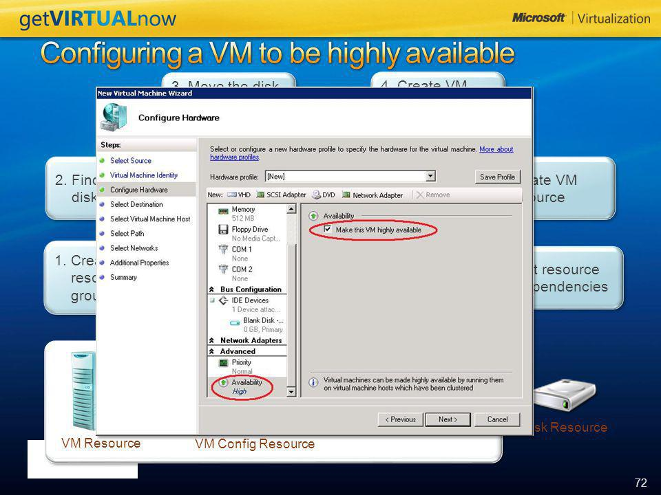 Configuring a VM to be highly available
