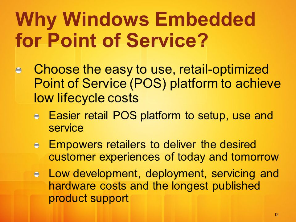 Why Windows Embedded for Point of Service
