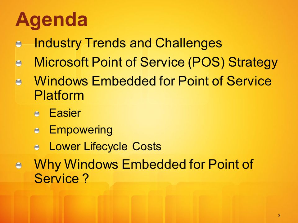 Agenda Industry Trends and Challenges