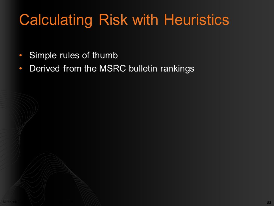 Calculating Risk with Heuristics