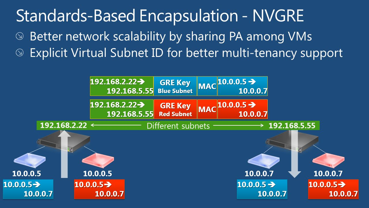 Standards-Based Encapsulation - NVGRE