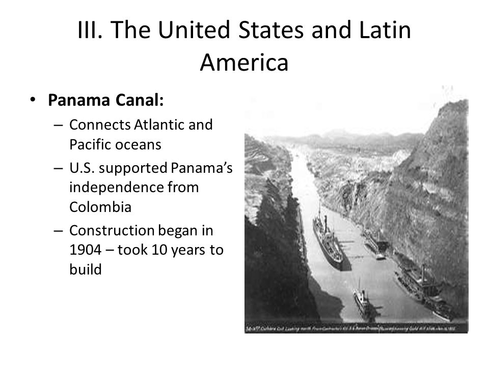 III. The United States and Latin America