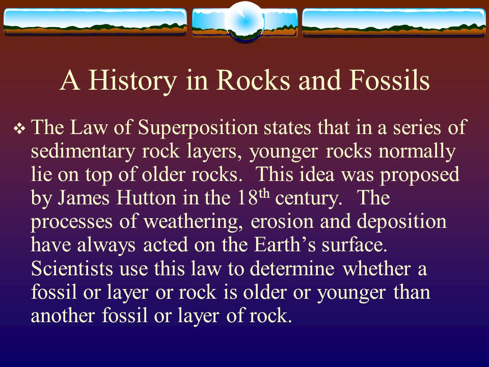 A History in Rocks and Fossils