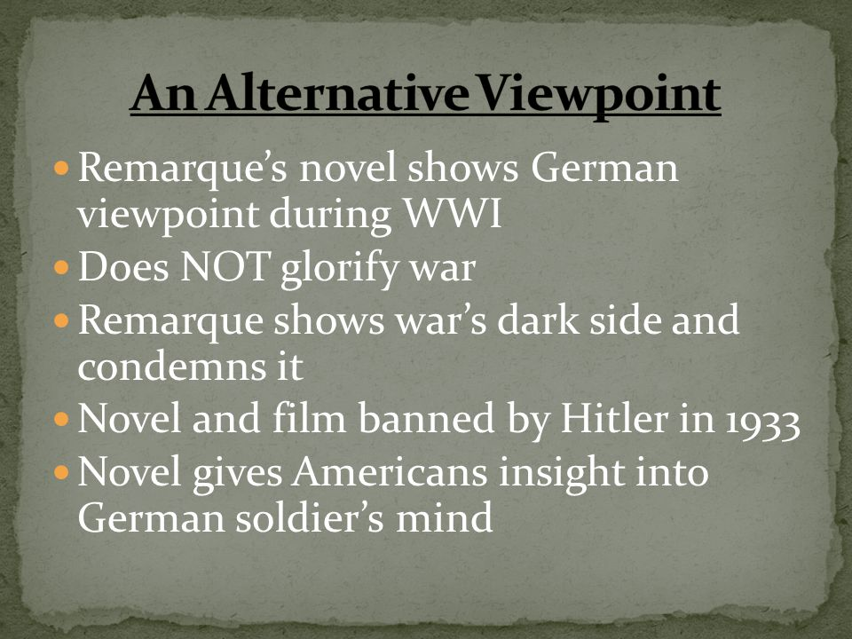 An Alternative Viewpoint