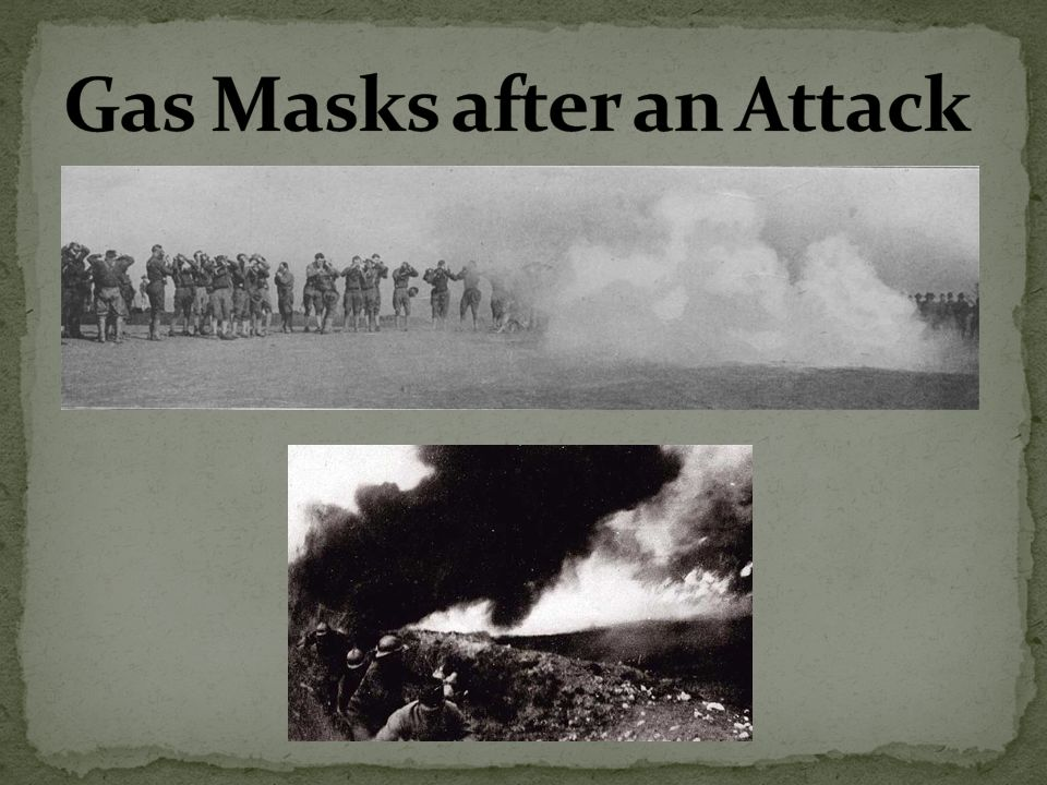 Gas Masks after an Attack