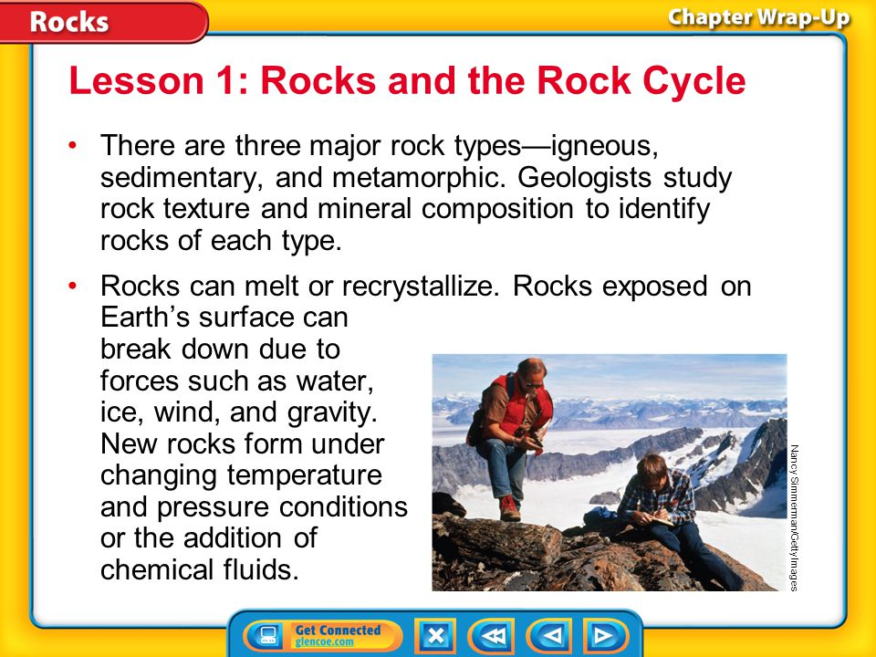 Lesson 1: Rocks and the Rock Cycle