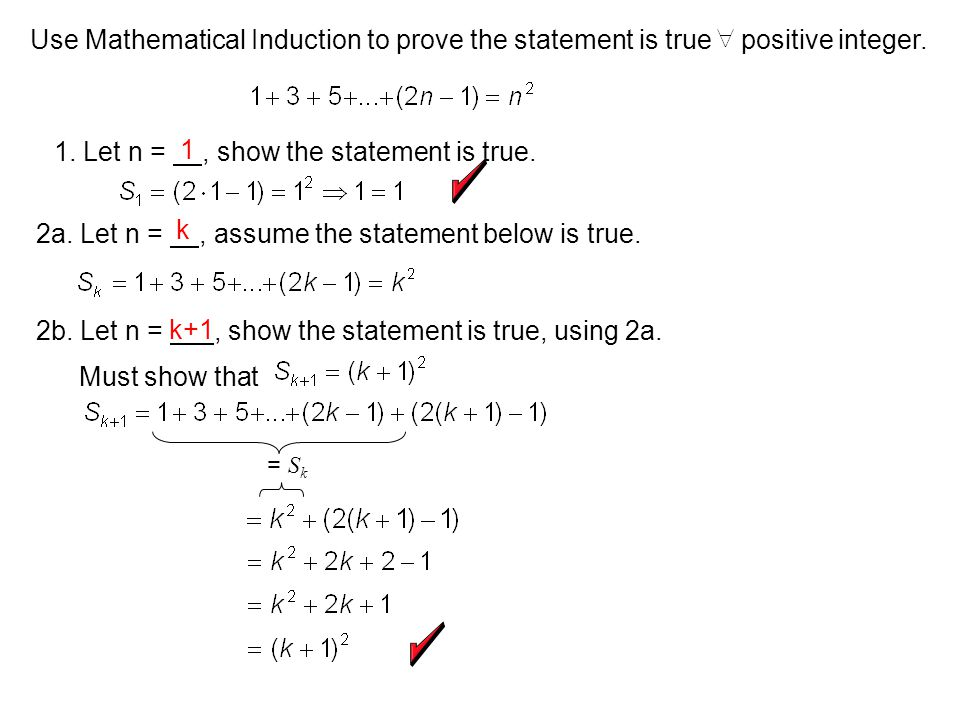 1. Let n = , show the statement is true. 1