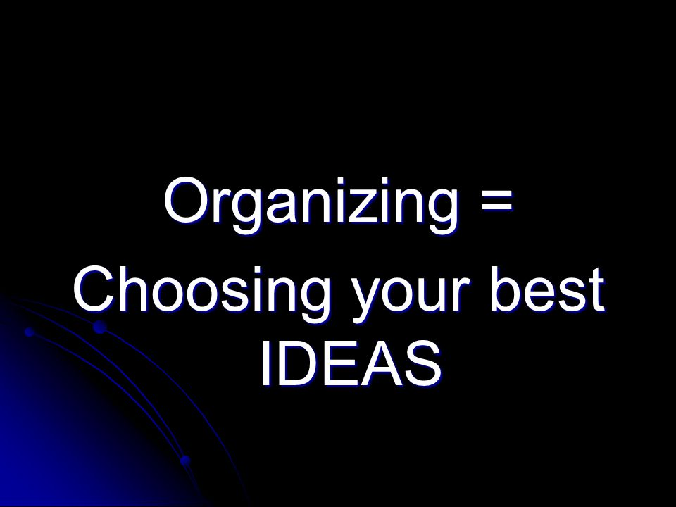 Choosing your best IDEAS