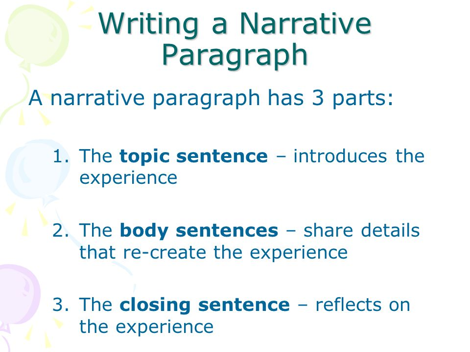 parts of narrative writing
