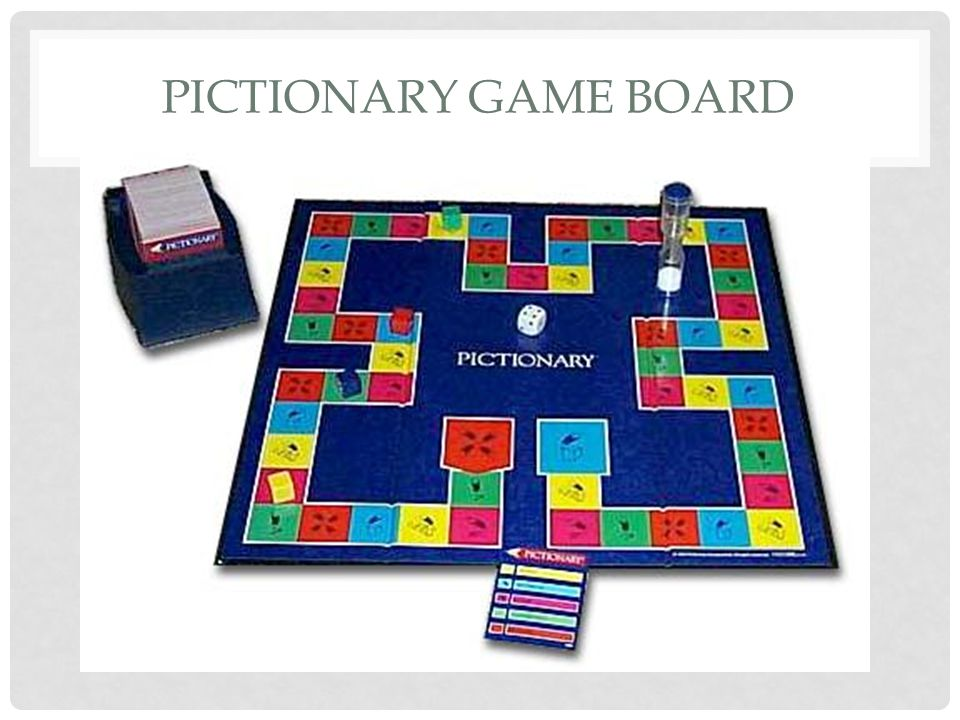 Pictionary Game Board