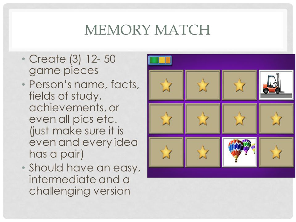 Memory Match Create (3) 12- 50 game pieces