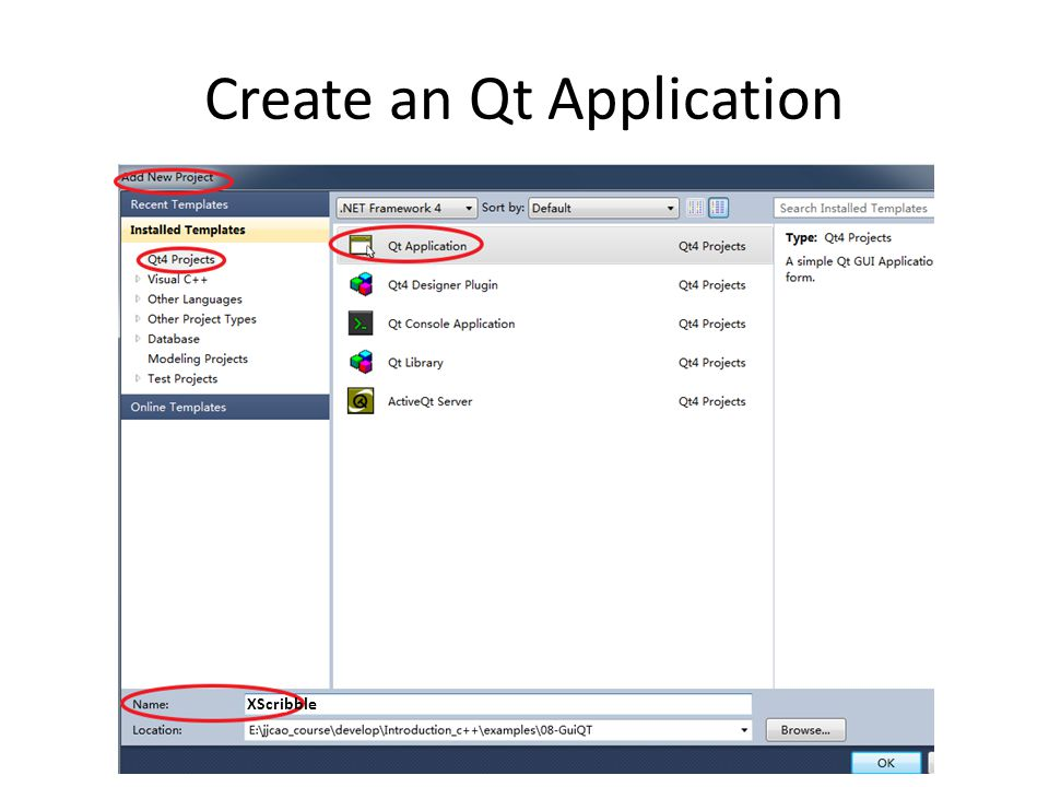 Create an Qt Application