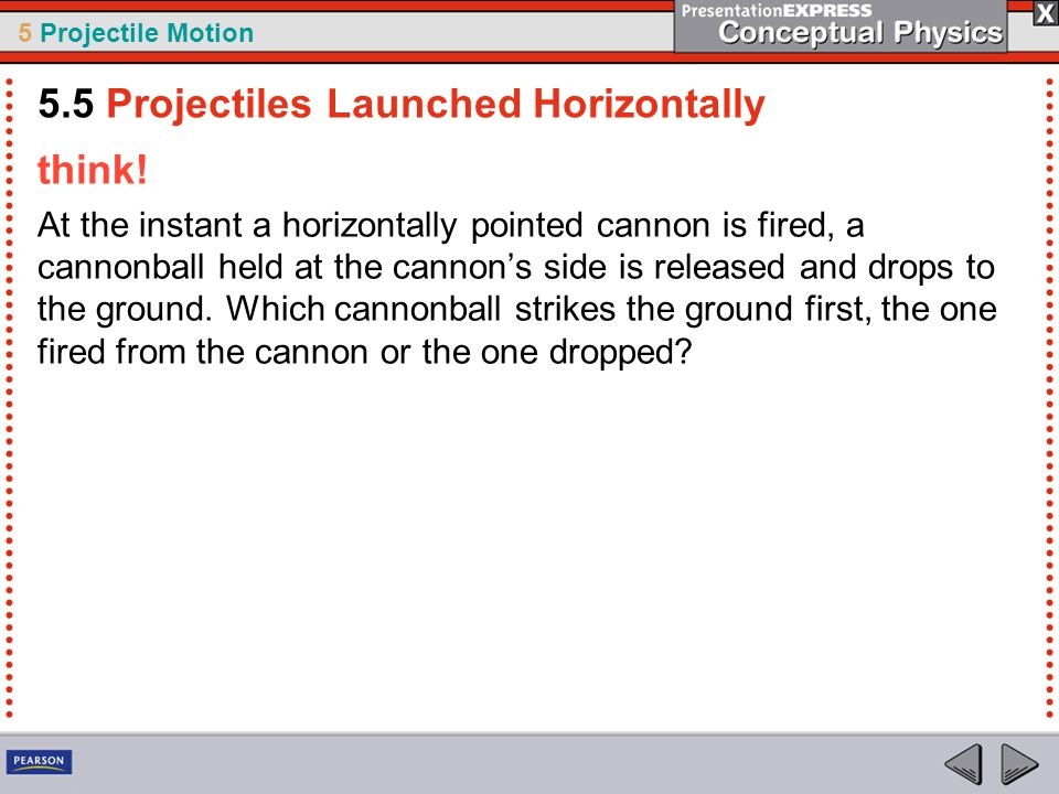 5.5 Projectiles Launched Horizontally