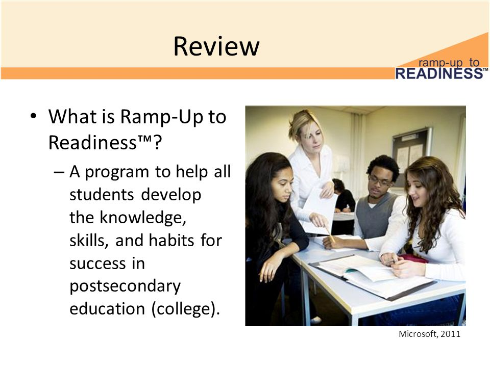 Review What is Ramp-Up to Readiness™